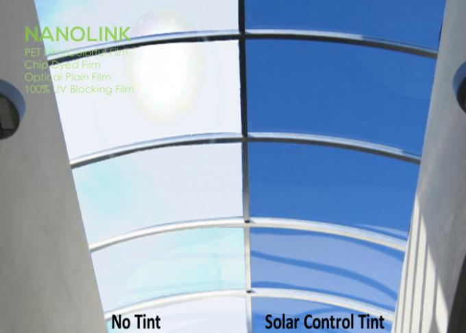 Sun Control Tint Film For House Windows / Auto Window High Transparency Heat Rejection