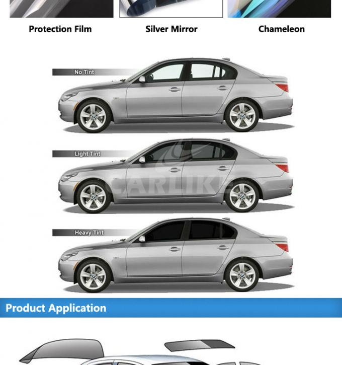 Heat Resistant Tint 3M Car Window Film , Sun Shade Film For Car Glass 1.56m Width