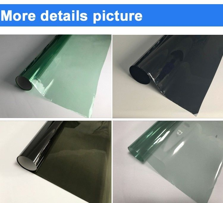 High Transparent Car Window Film , One Sided Window Tint Film For Cars