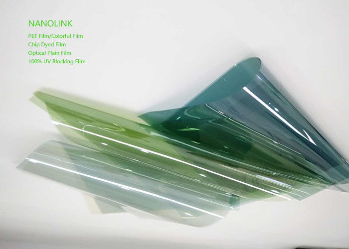 Energy Saving Solar PET Window Film For Vehicle / House Windows Customized Color